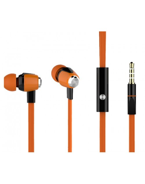 YISON ακουστικά HANDSFREE (ON/OFF) Plastic+TPE – ORANGE