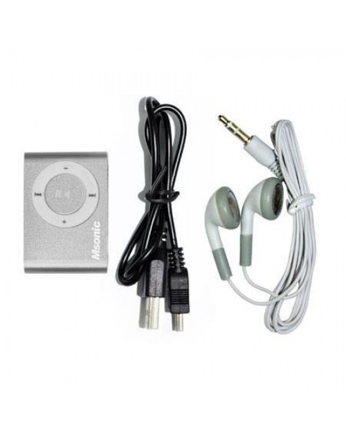 MSONIC MP3 Player MM3610K, Portable με Micro SD, Silver