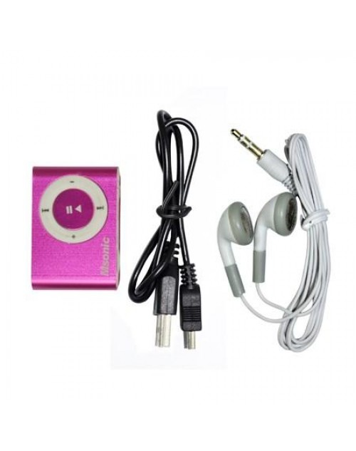 MSONIC MP3 Player MM3610K, Portable με Micro SD, Pink