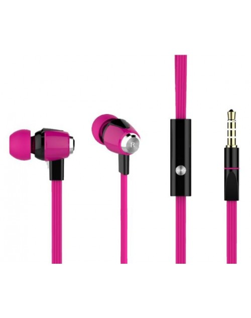 YISON ακουστικά HANDSFREE (ON/OFF) Plastic+TPE – PINK