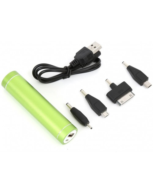 OMEGA Power BANK 2600mAh + 5V USB OUT: 1000mA GREEN